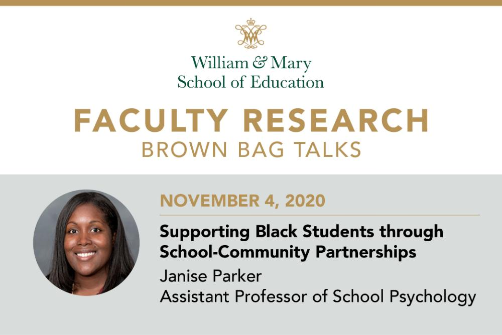 Faculty Research Brown Bag: Janise Parker