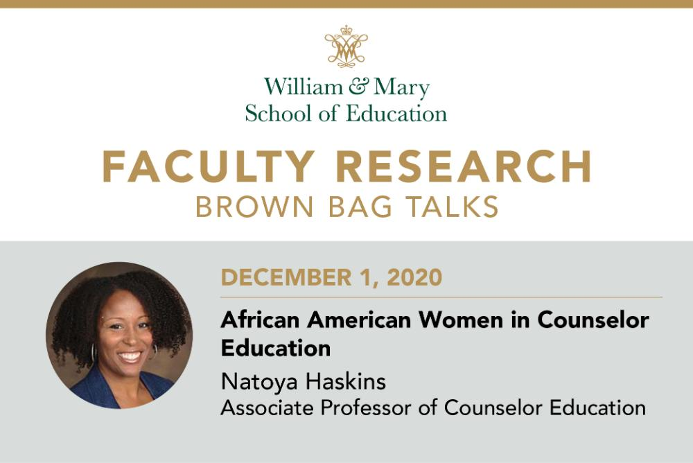 Faculty Research Brown Bag: Natoya Haskins