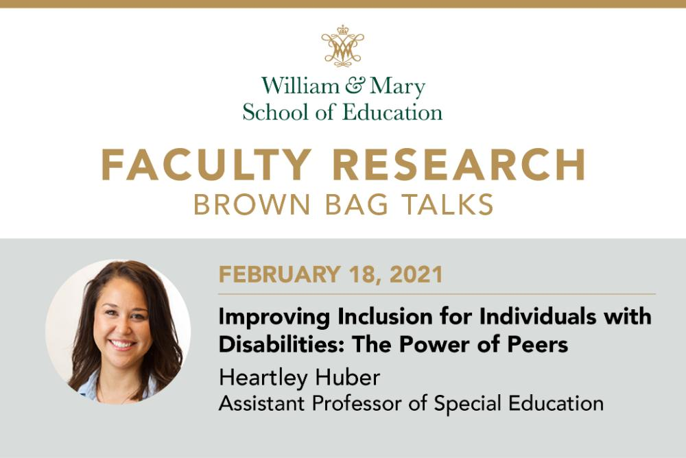 Faculty Research Brown Bag: Heartley Huber