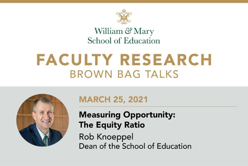 Faculty Research Brown Bag: Robert C. Knoeppel