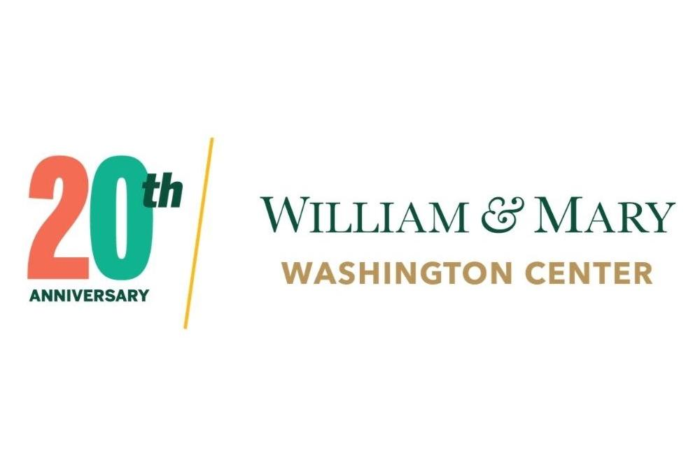W&M Washington Center 20th Anniversary Logo