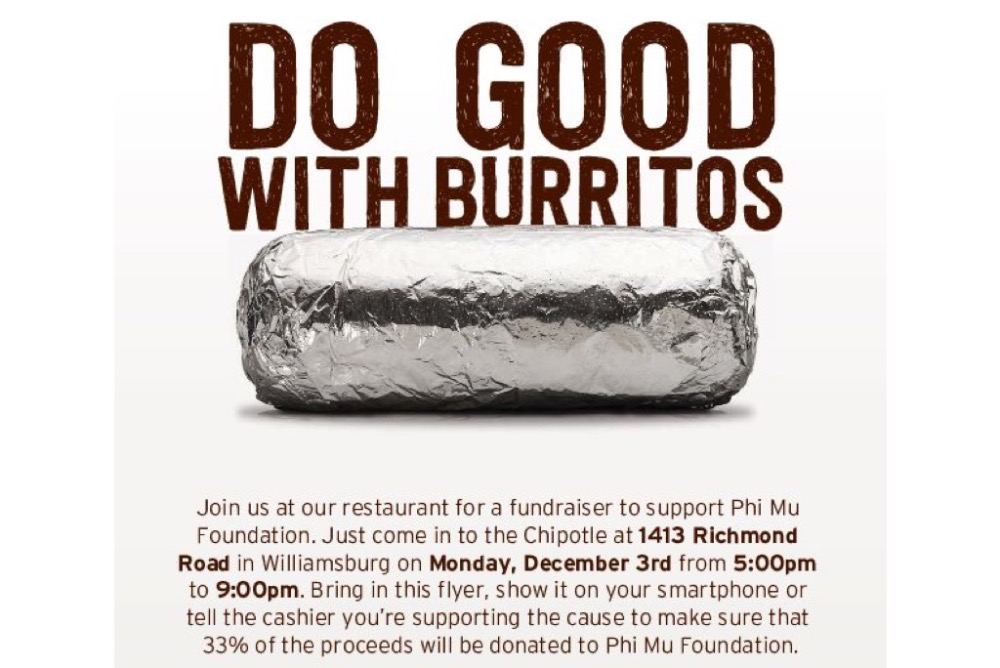 Show this flyer to the cashier or just mention that you are there to support the profit share!