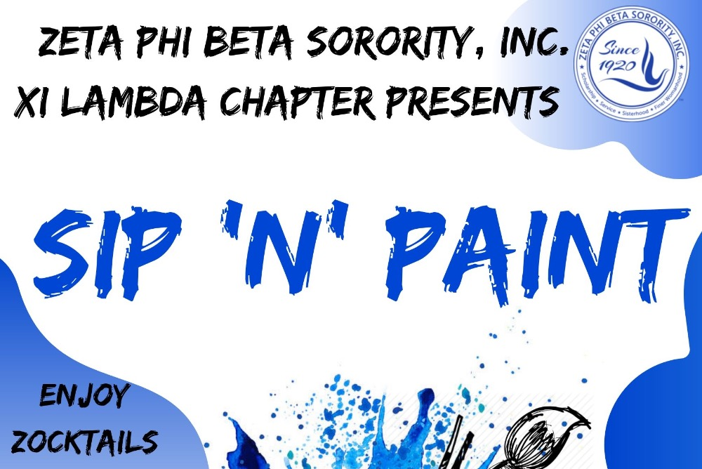 Sip 'n' Paint Flyer