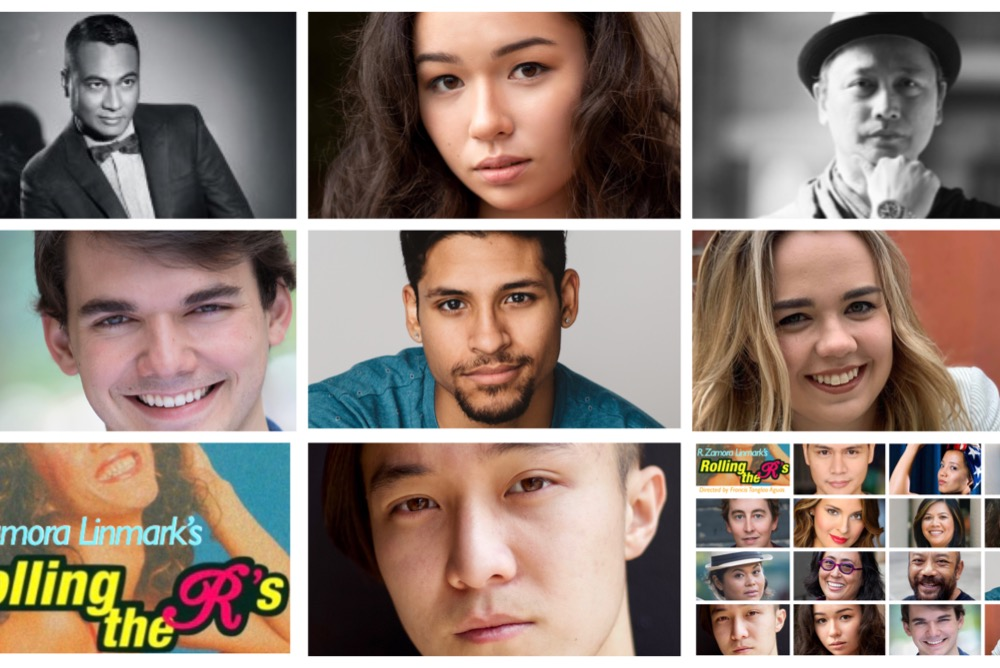 Xavi Soto-Burgos '20,  Quan Chau '21, Anthony Madalone '21, and Sumie Yotsukura '23 join the professional cast of the APIA and LGBTQ classic play ROLLING THE R's by R. Zamora Linmark.
