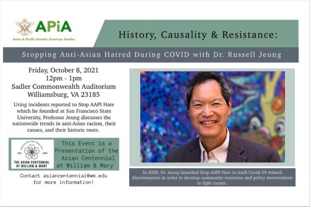 Professor Russell Jeung founded STOP AAPI HATE, which collected data on anti-Asian hate that increased during the pandemic.