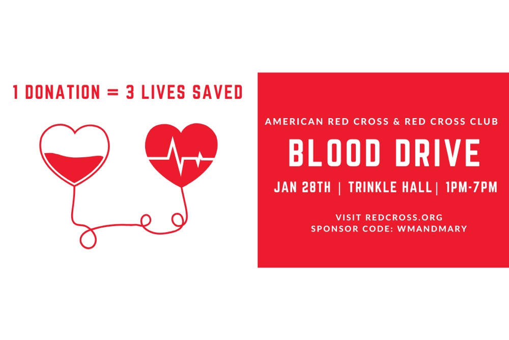 Sign up today to donate blood at our next blood drive on January 28th!