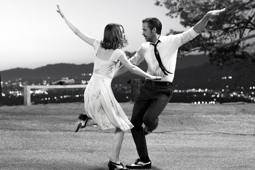 Ryan Gosling and Emma Stone tap dancing in the 2016 Lionsgate film
