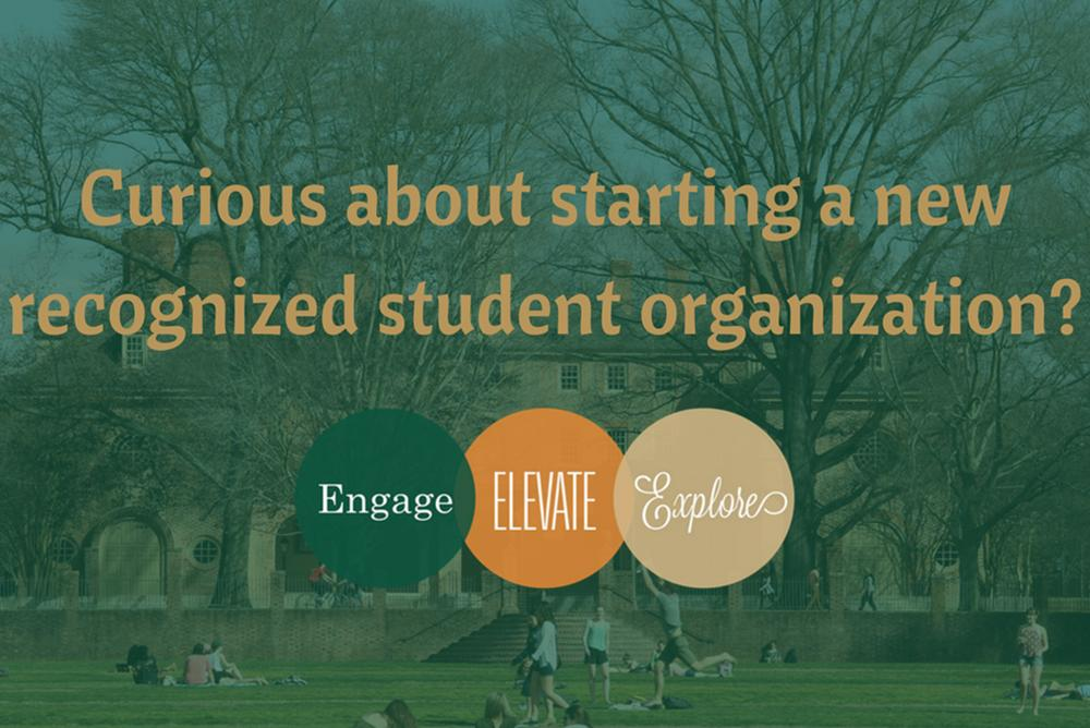 Curious about starting a new recognized student organization?