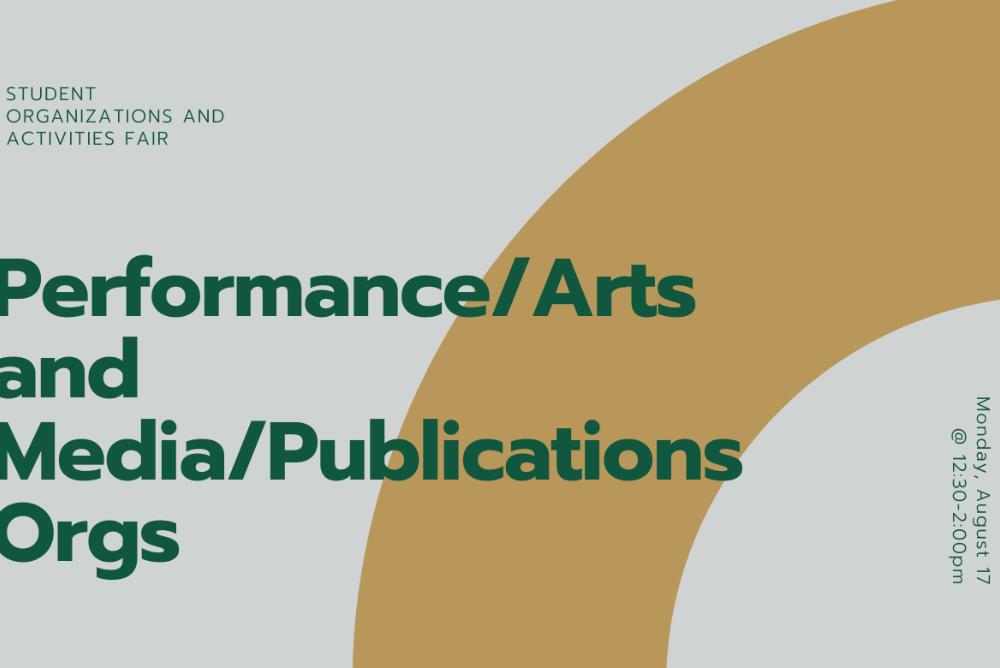 Performance/Arts and Media/Publications Orgs