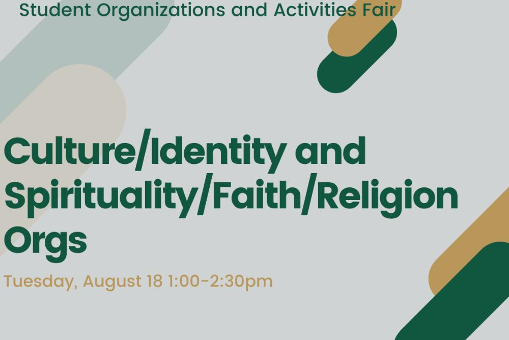 Culture/Identity and Spirituality/Faith/Religion Orgs