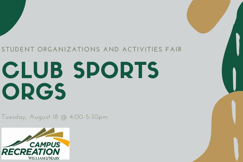 Club Sports Orgs