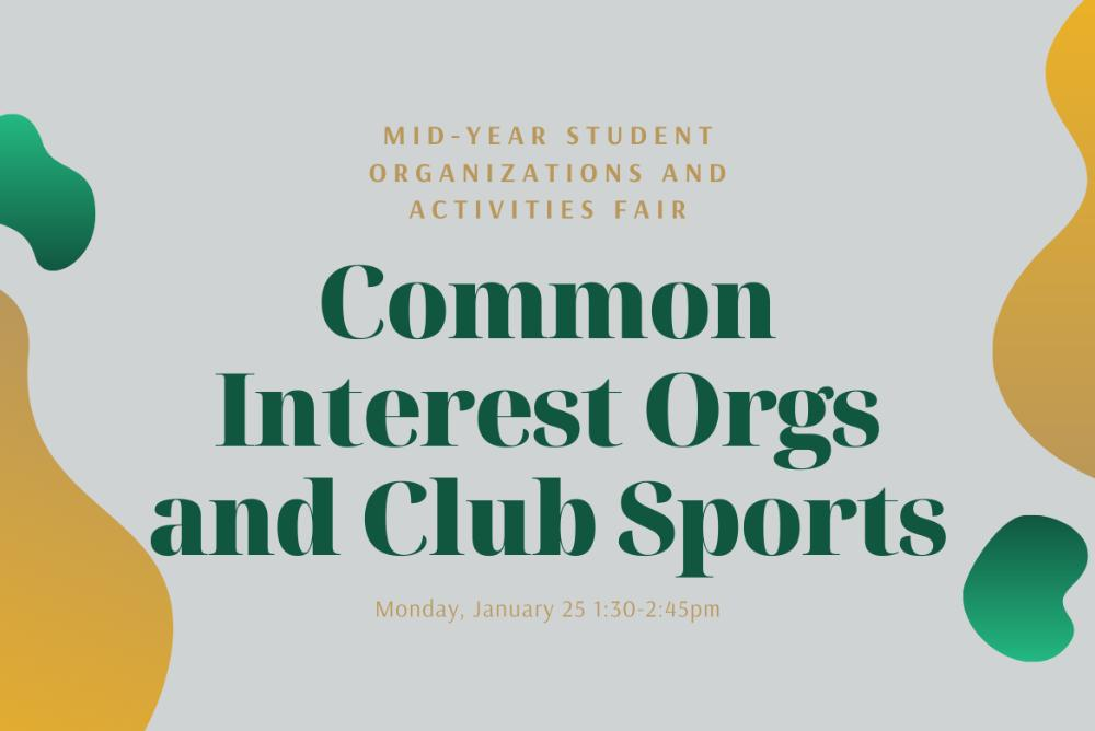 Common Interest Orgs and Club Sports