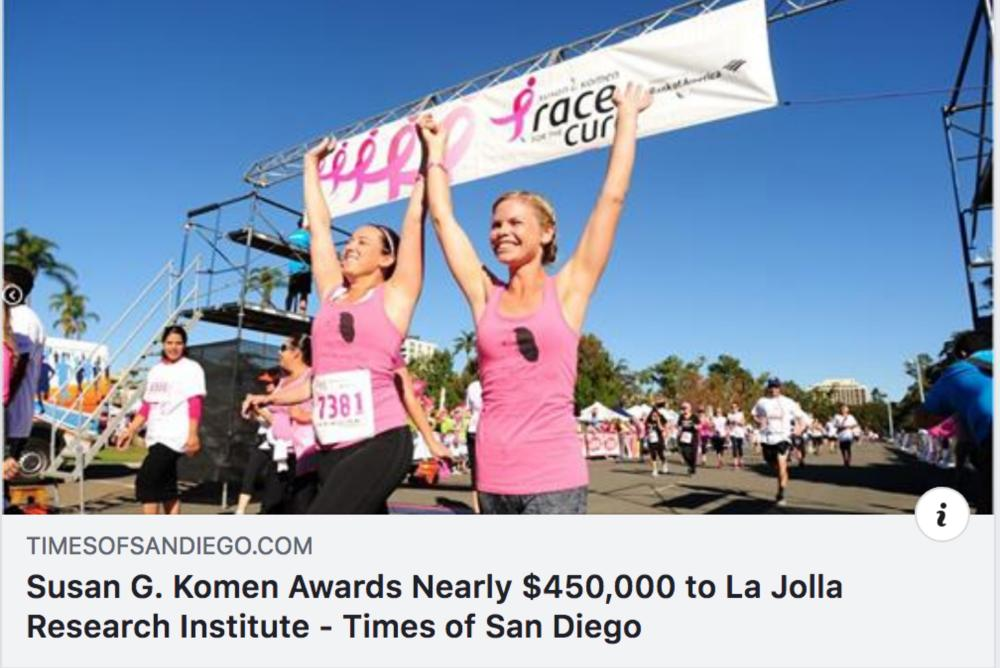 An icon image of the Susan G. Komen  foundation