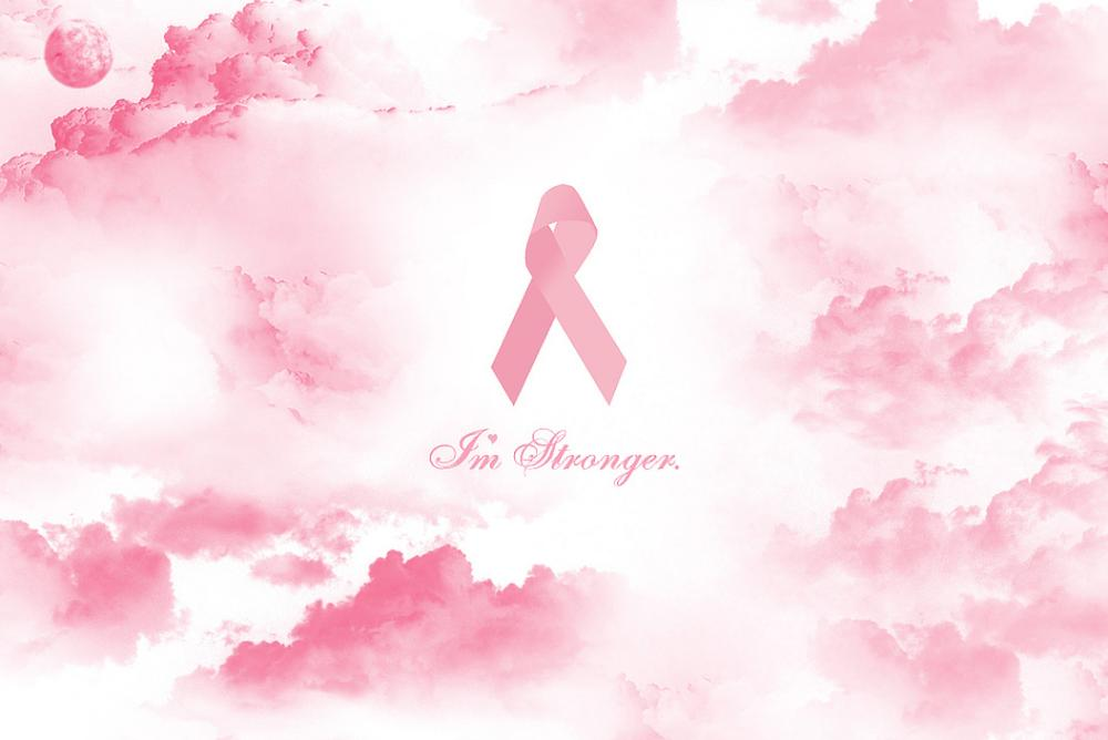 An icon image of the breast cancer awareness ribbon