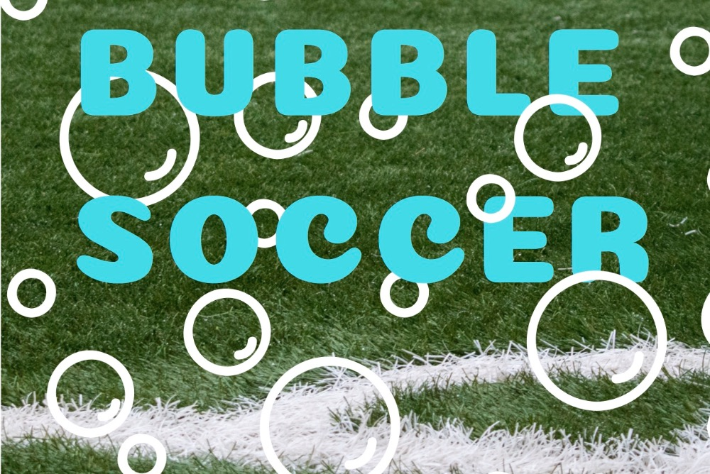 Flyer for bubble soccer