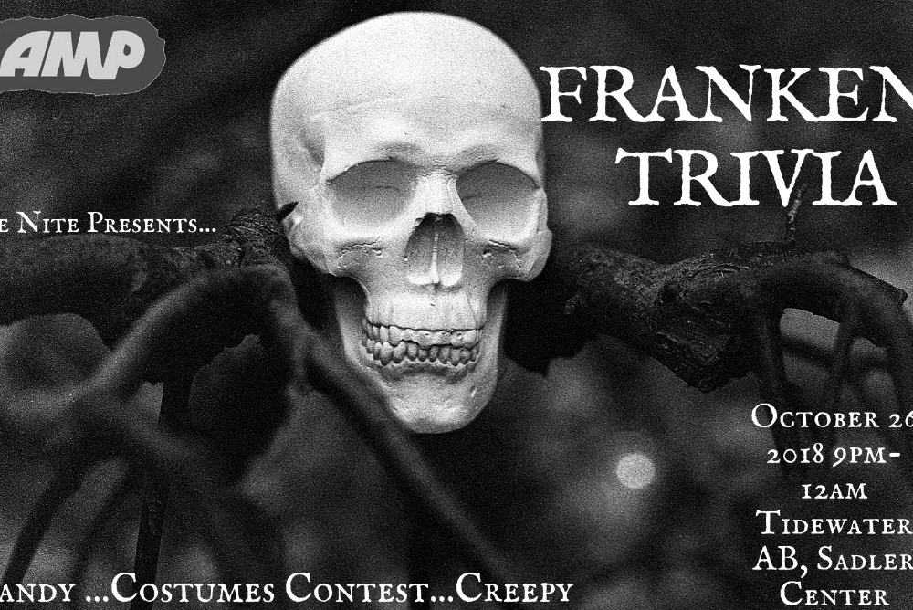 Frankin-Trivia   October 26 at 9pm in Tidewater AB in The Sadler Center