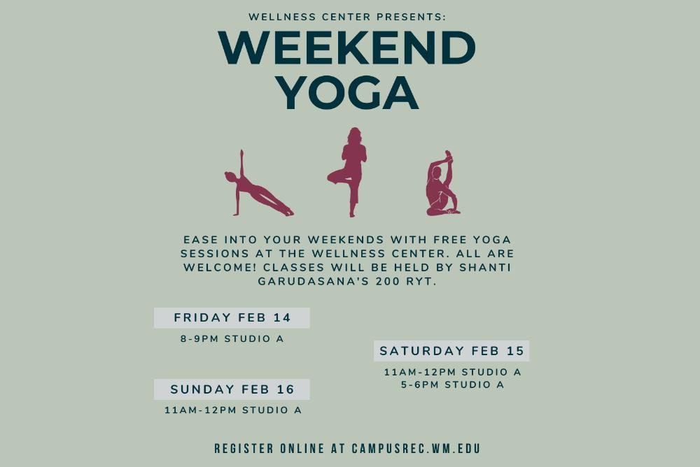 Weekend Yoga at the Wellness Center