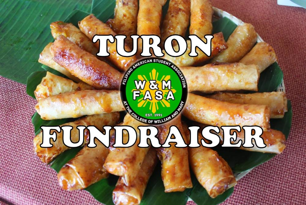 Turon (fried plantains with sugar-coated wraps) sold in Sadler Terrace this Wednesday, March 4th from 11-3pm!