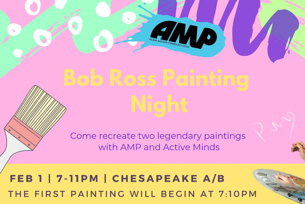 AMP & Active Minds / Bob Ross Painting Night