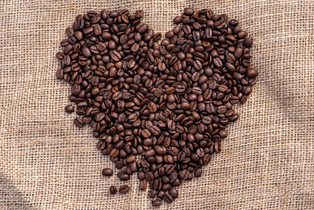 heart of coffee beans by Hans Ripa