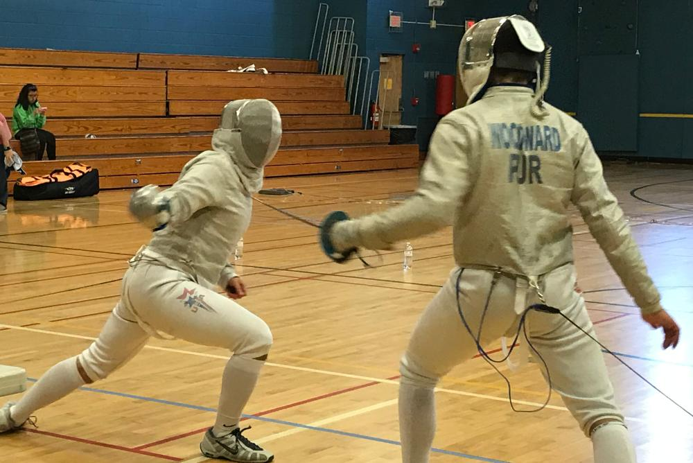 students, Fencing