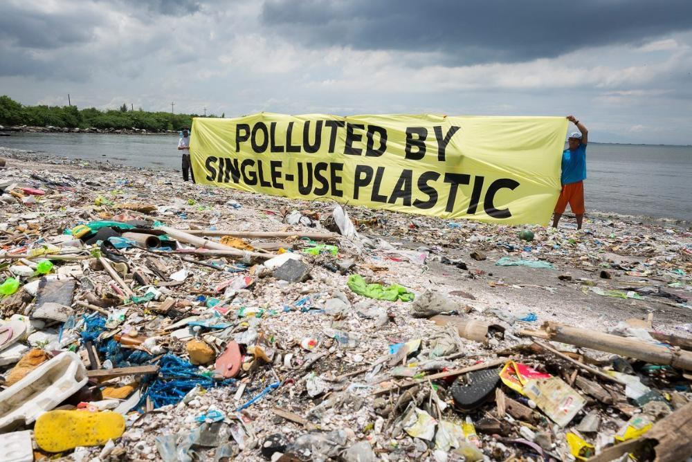 Polluted by Single Use Plastic
