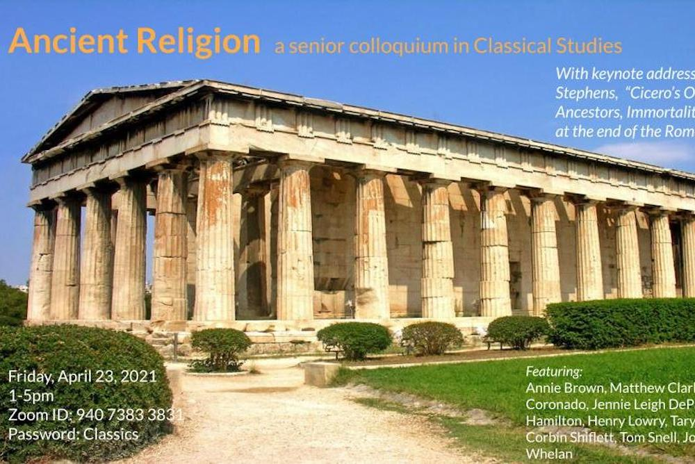 Ancient Religion poster featuring Temple of Hephaistos, from the Athenian Agora