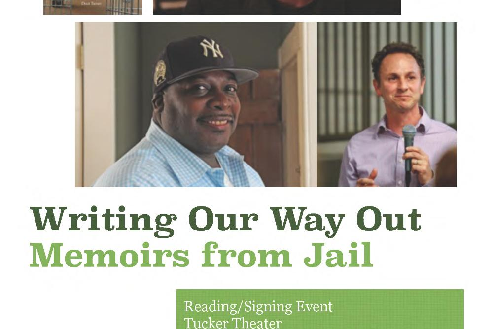 The poster for Writing Our Way Out: Memoirs from Jail