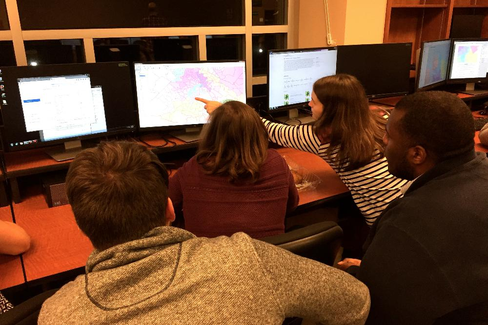 Law and undergraduate students worked together to create maps in the new course