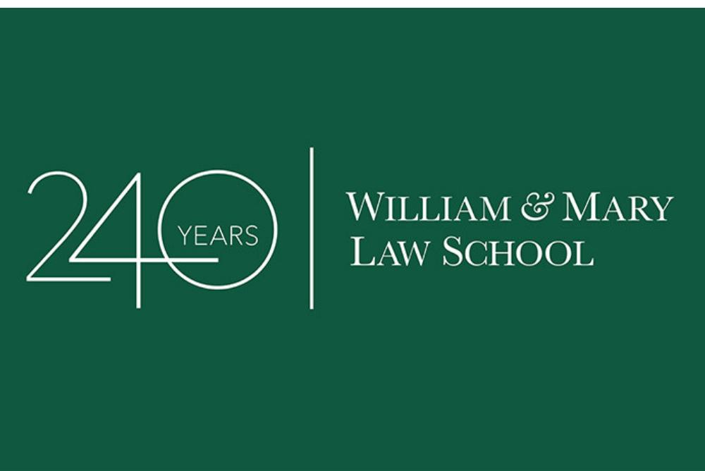 logo of 240th anniversary of William & Mary Law School