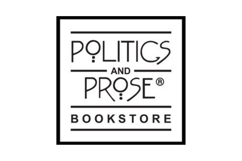 logo of the Politics and Prose bookstore