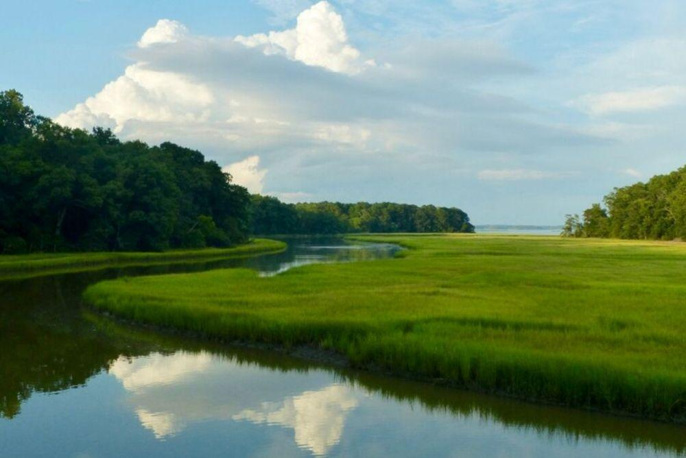 photo of waterway near historic Jamestown Island, VA