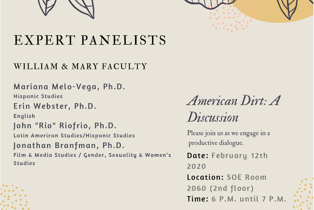 Expert panelists discuss the novel American Dirt