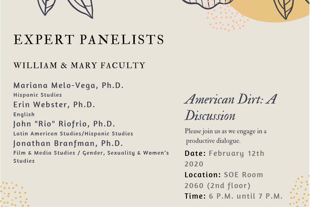 Expert panelists discuss the novel American Dirt