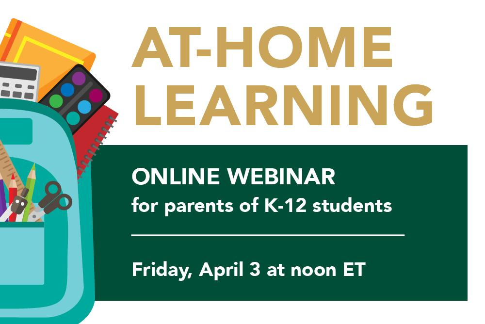 At-Home Learning Online Webinar