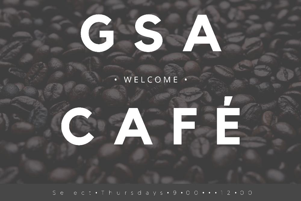GSA CAFE Logo (Select Thursdays 9-12 with coffee beans)