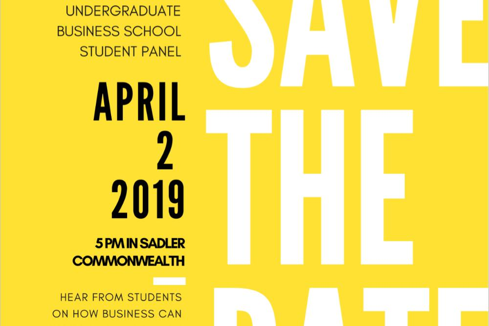 Undergraduate Business Student Panel flyer