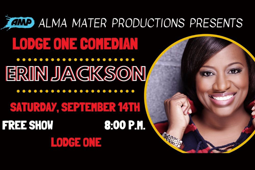 Come see Erin Jackson at Lodge One on Saturday, September 14th!