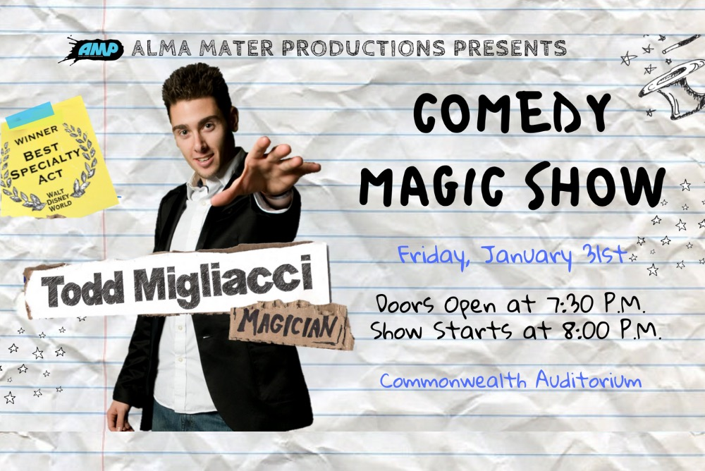 A Comedy Magic Show with award-winning magician, Todd Migliacci!