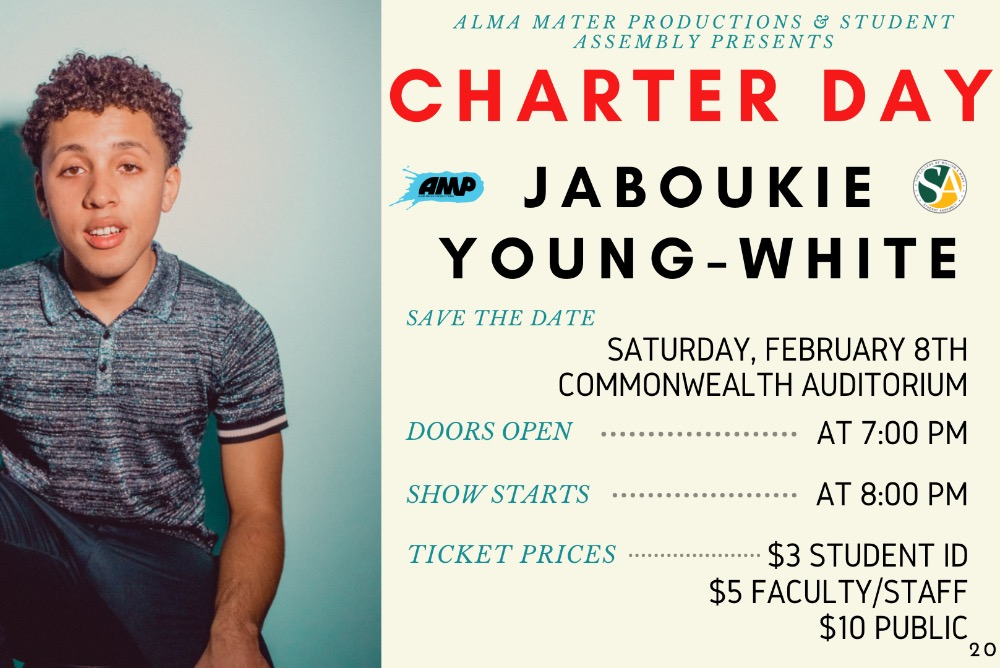 Jaboukie Young-White for 2020 Charter Day Comedian