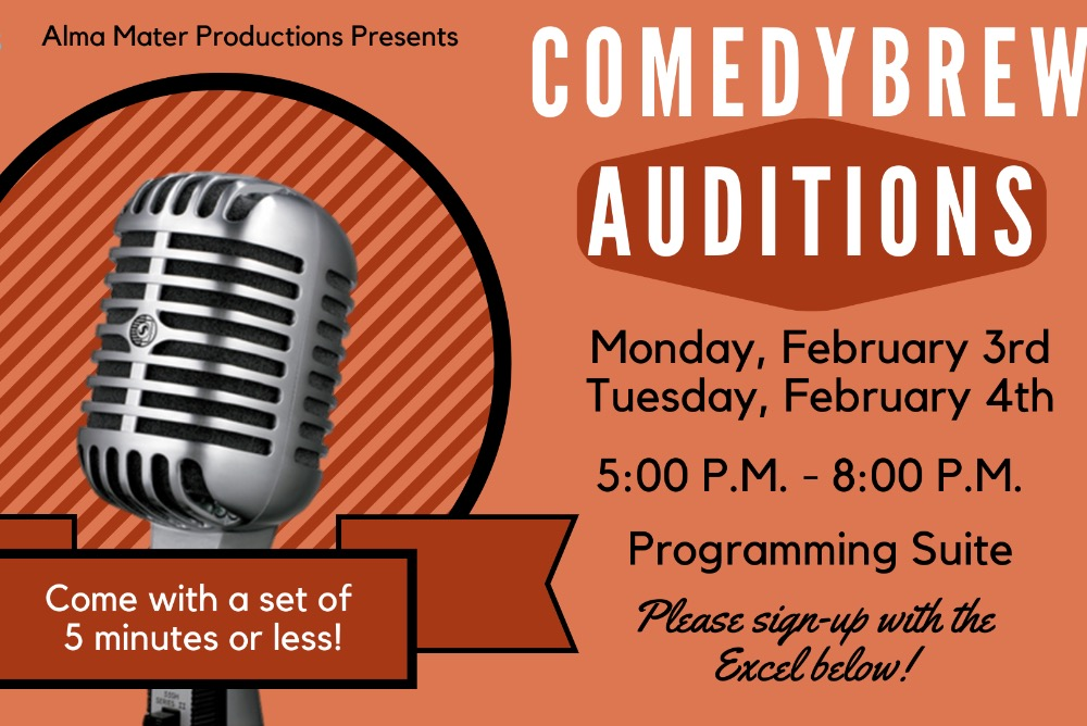 ComedyBrew 2020 Auditions