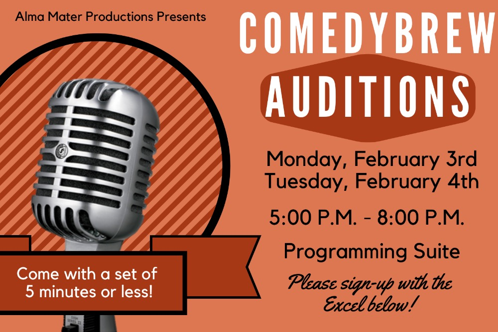 ComedyBrew Auditions 2020