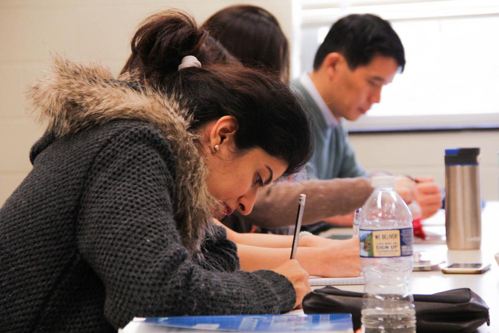 Students in the Intensive English Program.