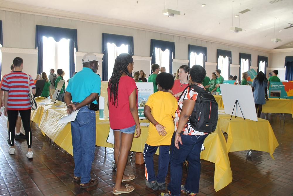 Students and their families learn about the many study abroad options available to them.