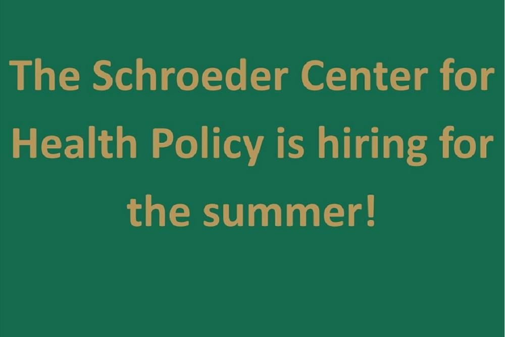 Schroeder Center is hiring graphic