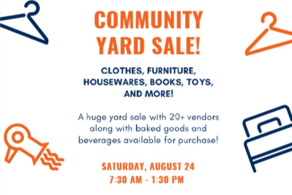 Flyer for VIMS Community Yard Sale