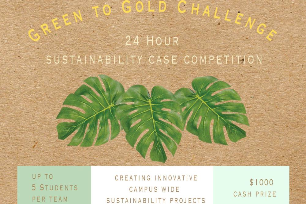 green to gold case competition flyer