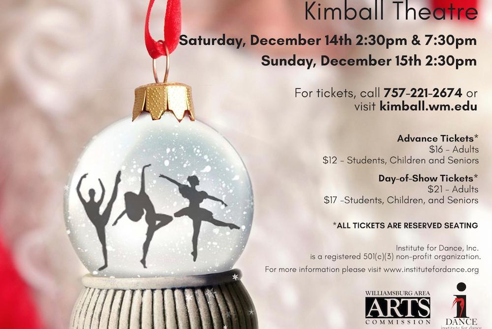 Williamsburg Christmas 2019.Institute For Dance Inc Christmas Dreams 2019 Kimball