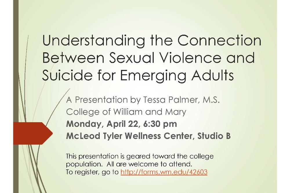 Sexual Violence & Suicide