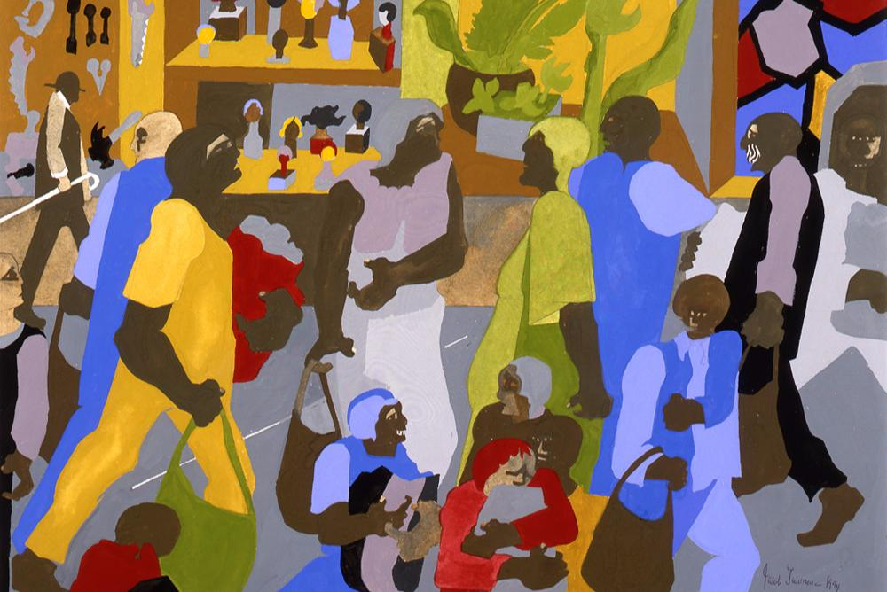 JACOB LAWRENCE | Shopping Bags (detail), 1994 | 1997.115